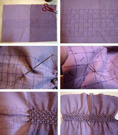 "Sewing technique to ""weave fabric"""