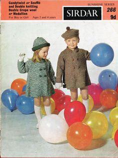 Sirdar 266 toddler coat and beret vintage knitting от Ellisadine