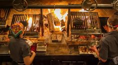 Image result for small open fire restaurant