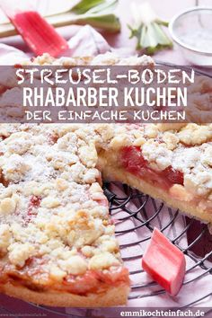 Streuselboden Kuchen mit Rhabarber – emmikochteinfach Streuselboden cake with rhubarb Egg Recipes For Breakfast, Breakfast Dessert, Deviled Eggs Recipe, Unprocessed Food, Food Processor Recipes, Easy Meals, Food And Drink, Cooking, Desserts
