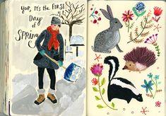 Daily Sketchbook Paintings March 12-23rd | August Wren