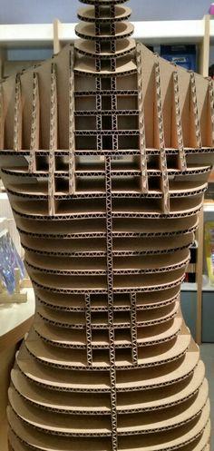 Cardboard Design, Cardboard Display, Cardboard Sculpture, Cardboard Paper, Cardboard Furniture, Cardboard Crafts, Diy Furniture, Paper Crafts, Mason Jar Candles