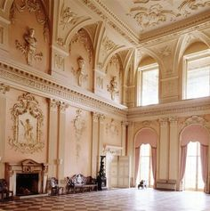 The great hall at Ragley Hall.