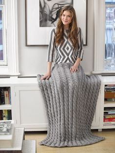 Autumn/Winter Trends 2015 - Knitting Patterns for Home - Cabled Afghan kniting pattern FREE by Lion Brand - LoveKnitting blog