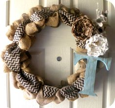 Burlap Wreath @Chloe Allen Beam @Sarah Chintomby Rose let's get together and make these!!!