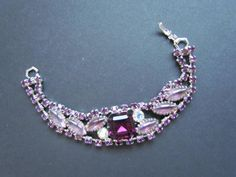 Juliana Style Bracelet Purple Glass Bracelets by WhyWeLoveThePast, $28.50