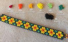 Huichol Bracelet Tutorial by Kat Kramer