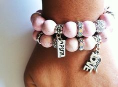 Breast cancer awareness jewelry  Pink beaded by preciousheartshop, $45.00
