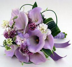 lavender calla lillies bouquet