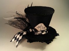 Mad Hatter Mini Top Hats Made to your desire Alice in Wonderland Tea Party. $30.00, via Etsy. alice in wonderland hat love it wonder if Ivan make this
