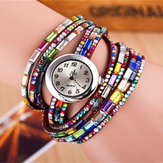Multi color bracelets + watch! Like this design? Get it for $3.99. Click to enjoy our Lucky Home Coming Sale, up to 60% off until September 12 ♥