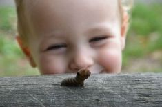 Compassion: Teaching a child not to step on a caterpillar is as valuable to the child as it is to the caterpillar. I Smile, Make Me Smile, Happy Smile, It Goes On, Baby Kind, Caterpillar, Life Lessons, Decir No, Babys