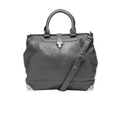 Nila Anthony Cornered Structured Satchel Charcoal up to 70% off | Handbags | Little Black Bag