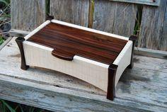 Curly maple and rosewood keepsake box