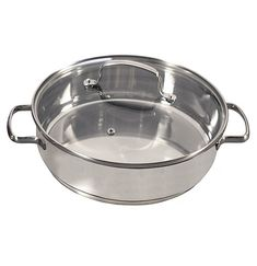 Nuwave Quart Stainless Steel Saute Pan with Tempered Glass Lid, Induction Ready * Details can be found by clicking on the image. (This is an affiliate link) Induction Cookware, Electric Oven, Kitchen Collection, Bakeware, Stainless Steel, Glass, Steamers, Pots, Link