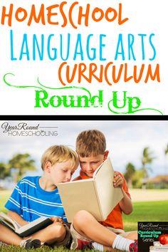 Homeschool Language Arts Curriculum Round Up - http://www.yearroundhomeschooling.com/homeschool-language-arts-curriculum-round-up/