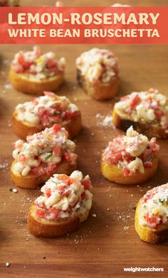 Kick your Bruschetta up a notch with our Lemon-Rosemary White Bean spin!