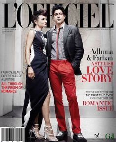 Farhan and Adhuna Akhtar cover L'Officiel |