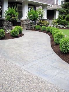 27 Ideas For Landscaping Ideas Front Yard Curb Appeal Stones.- 27 Ideas For Landscaping Ideas Front Yard Curb Appeal Stones Plants 27 Ideas For Landscaping Ideas Front Yard Curb Appeal Stones Plants - Front Yard Walkway, Small Front Yard Landscaping, Front Yard Design, Small Patio, Porch Entrance, Patio Design, Driveway Entrance, House Design, Front Yard Hedges