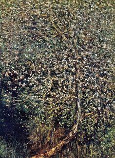 Pommiers en fleurs au bord de l'eau (C Monet - W 585),1880.