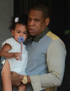 Jay Z and daughter  Blue Ivy Carter