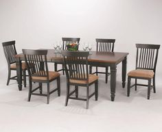 CaféXpress - Farmhouse 7-Piece Dining Table Set by Cochrane