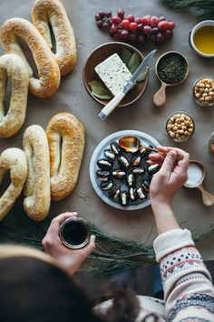 Jerusalem bagels, harissa honey labne, and a middle eastern wine & cheese party