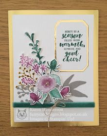 Furry Cat Designs - Karen Henderson - independent UK Stampin' Up! Stampin Up Christmas 2018, Create Christmas Cards, Stamped Christmas Cards, Homemade Christmas Cards, Masculine Birthday Cards, Anna Griffin Cards, Winter Cards, Flower Cards, Stampin Up Cards