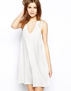 Warehouse Lace Detail Swing Shift Dress