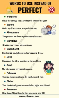 In this lesson, you will learn a list of commonly used synonyms for perfect in English with ESL pictures and example sentences to help you enha Essay Writing Skills, English Writing Skills, Book Writing Tips, Writing Words, English Lessons, Learn English Grammar, Learn English Words, English Language, English Vocabulary Words