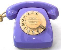 ►►Antiguo telefono retro HERALDO post color VIOLETA años 70►► Coleccion