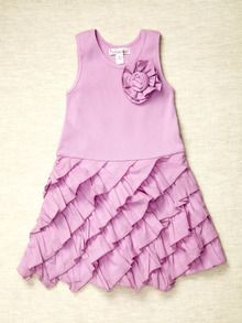 Diagonal Ruffle Dress by Ciel by Halabaloo