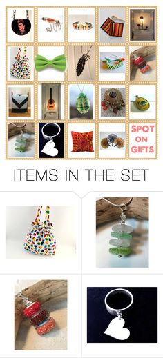"""SPOT ON GIFTS on ETSY"" by glowblocks ❤ liked on Polyvore featuring art"