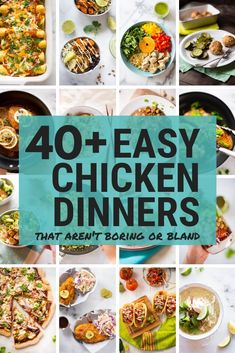 Easy chicken dinners easy chicken recipes are perfect for those busy week. Easy Healthy Dinners, Healthy Dinner Recipes, Healthy Snacks, Eating Healthy, Easy Dinners, Weeknight Recipes, Healthy Chicken Recipes, Meat Recipes, Pinterest Recipes