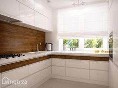 kuchnia z oknami na wysokosci blatu - Szukaj w Google