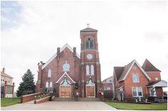 Rustic Winter Wedding: St. Mary's Rockwood Catholic Church in Rockwood, MI — Courtney Carolyn Photography