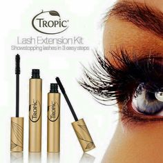 A two step system that's incredibly easy to use yourself at home. Part 1-The Fixing Gel Mascara creates amazing nourished defined dark lashes. Part 2-The Extension Fibres give lashes 5x more volume and doubles the length of the lash. Available to buy as a kit or single. £10 Extension Fibres Code - 2EB £18 Fixing Gel Mascara Code - 2EC £25 as a kit (save £3) Code - 2E www.tropicskincare.co.uk/shop/sandyjones