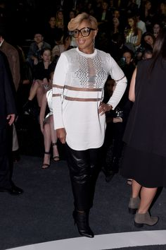 Mary J. Blige at the ALEXANDER WANG x H&M event. More updates at hm.com/WANGxHM. Photo credit: Edward Dougherty