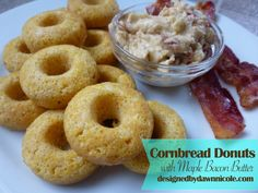 Cornbread Donuts with Maple Bacon Butter