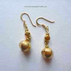 Boucles d'Oreilles en Vermeil Or 18 ct sur Argent 925. Antique Vermeil Earrings  #Ethnique