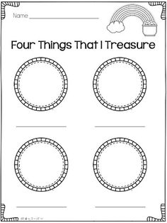 """Four Things That I Treasure"" Activity (free)"