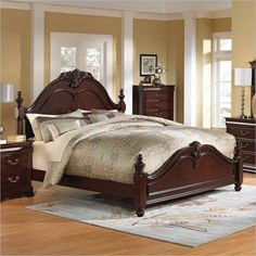 Standard Furniture Westchester Poster Bed in Rich Cherry - 826XX - Lowest price online on all Standard Furniture Westchester Poster Bed in Rich Cherry - 826XX