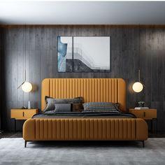 Master Bedroom Design, Modern Bedroom, Bedroom Designs, Living Room Home Theater, Remodeling Mobile Homes, Hommes Sexy, Bed Design, Modern Interior Design, Interior Inspiration