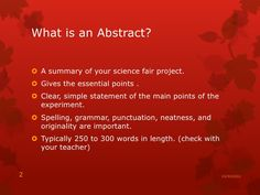 how to write an abstract for science