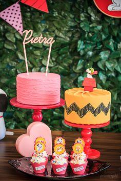 Festa Snoopy   Macetes de Mãe Snoopy Party, Baby Shower Parties, Baby Showers, Party Themes, Party Ideas, I Party, Birthday Parties, Themed Parties, Cookie Decorating