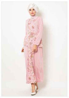 gambar baju muslim jersey motif untuk wanita Baju Muslim Modern a283ab47e3