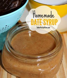 Homemade Date Syrup... Healthy, yummy, PALEO! TablerPartyOfTwo.com