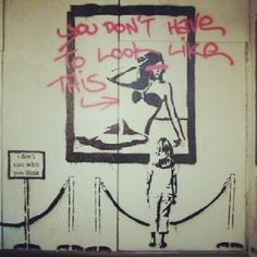 you don't have to look look this. #graff #graffiti #banksy by graffquotes http://instagr.am/p/Q8thoBlQoL/