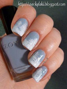 Holiday Inspired Nails - Winter Wonderland