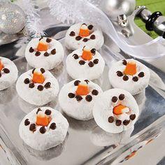 Snowman Mini Donuts Recipe - OrientalTrading.com